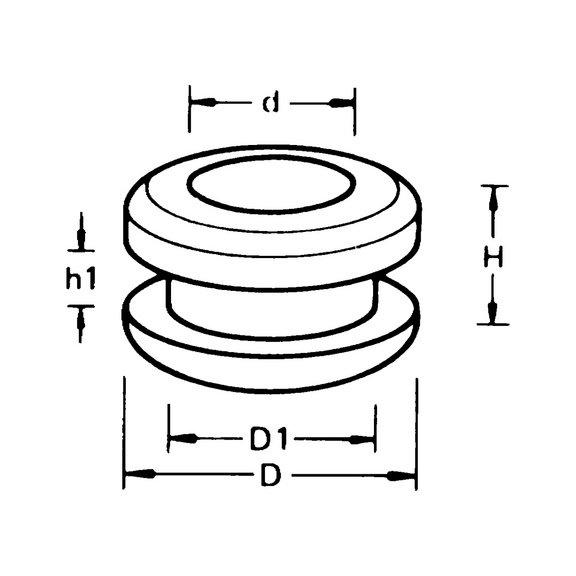 Кабельный ввод, двухсторонний - 3