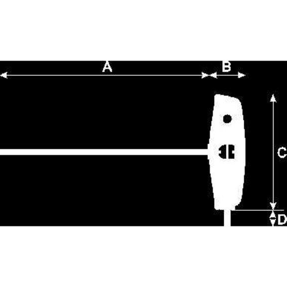Отвертка с Т-образной рукояткой, шестигранная головка - 3