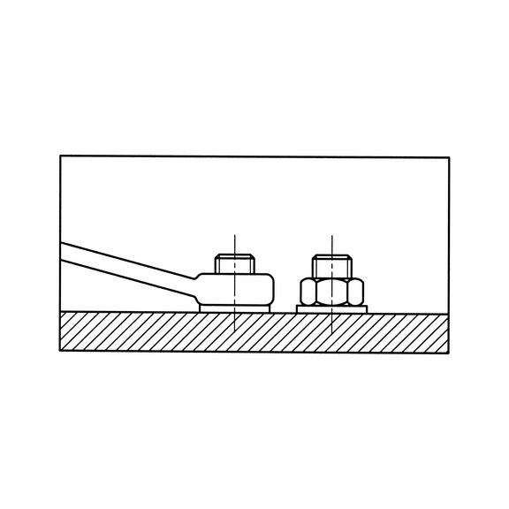 Ключ гаечный комбинированный, короткое исполнение - 3