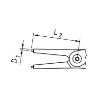 Клещи для стопорных колец Форма C - 4
