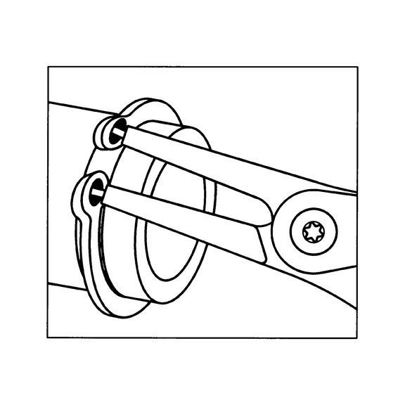 Клещи для стопорных колец Тип A - 3