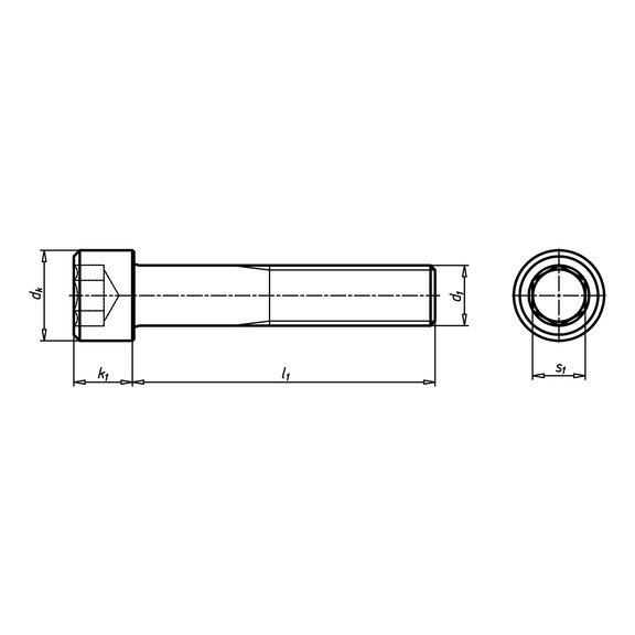 Винт с цилиндрической головкой и внутренним шестигранником под ключ - 3