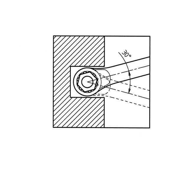 Ключ гаечный комбинированный, короткое исполнение - 4