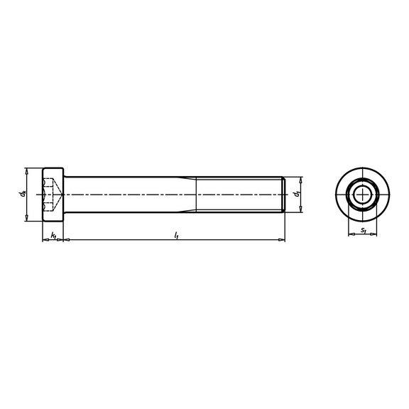 Винт с цилиндрической низкой головкой - 3