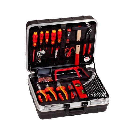 Инструмент электромонтажный в ассортименте в PE/AL чемодане, 69 шт.  - 1