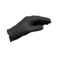 Перчатки одноразовые нитриловые, без пудры.