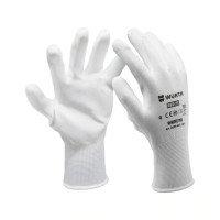 Перчатки защитные, белые, ПУ, Red Line
