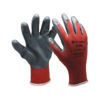 Защитные перчатки, красные PU, Red Line