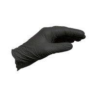 Нітрилові одноразові рукавиці, чорні, розмір М {арт. 0899470398}