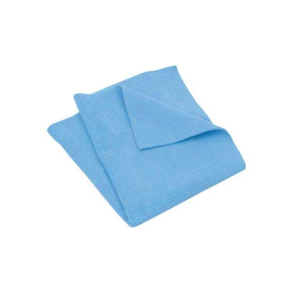 Ганчірка з мікроволокна, блакитна, 40х40 см, 5 шт в упаковці {арт. 19910730101} - 1