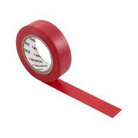 Ізоляційна стрічка PVC, червона, 18мм/10м {арт. 1985103}